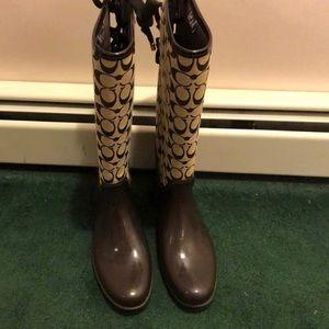 Coach rain boots size 10!